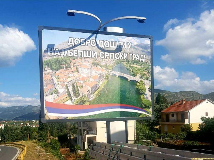 Bilbord trebinje najljepsi srpski grad